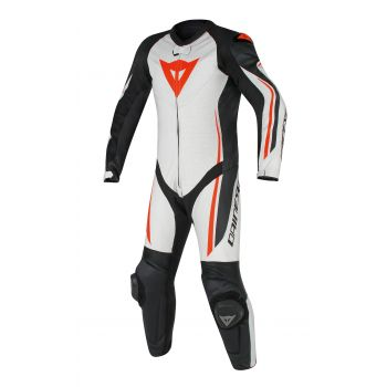 Dainese Assen 1 Piece Perf Leather Suit-White