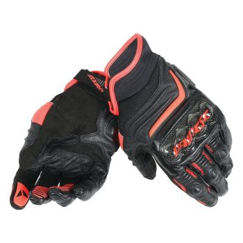 Dainese Carbon D1 Short Glove Fluro red