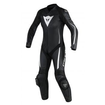 Dainese Assen 1 Piece Perf Ladies Leather Suit-Black