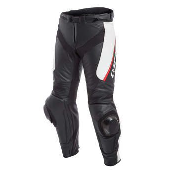 Dainese Delta 3 Leather Pants White/Red