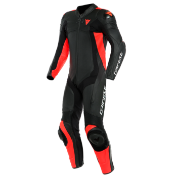 Dainese Assen 2 One Piece Perf Leather Suit FluoRed/Black