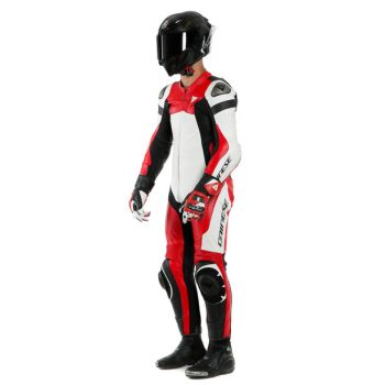 Dainese Assen2 One Piece Perf Leather Suit Red/White/Black