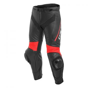 Dainese Delta 3 Leather Pants Fluro Red