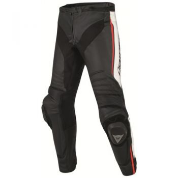 Dainese Misano Leather Pants-Fluro Red