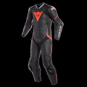 Dainese Laguna Seca 5 1pc Suit-BLK-Fluo-Red
